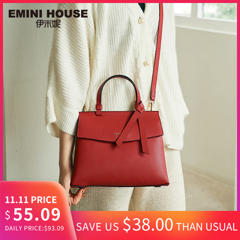 Mini casa 2 tamanhos gravata borboleta bolsas de luxo bolsas femininas designer litchi grão split couro bolsa de ombro crossbody sacos para mulher