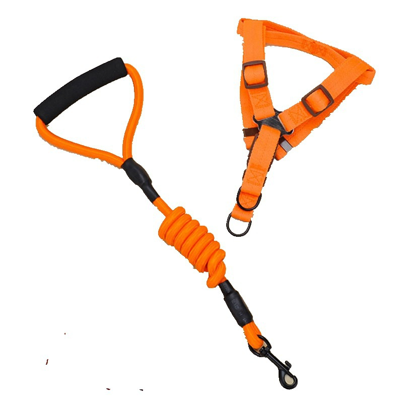 Pet Supplies Nylon Tow Rope Pet Round Rope Chest And Back With Set Handle Dog Chain Dog Rope Dog Breast Collar