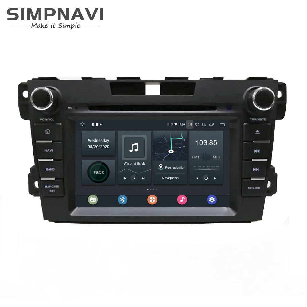 """7"""" IPS Android Car DVD Stereo Radio Player for Mazda CX7 CX-7 2007-2014 Built in Carplay DSP Support Original Bose Amplifier SWC"""