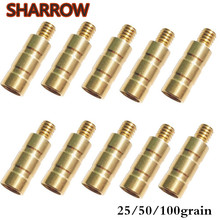 24Pcs  25/50/100Gr Archery Brass Arrow Weight Combo Screw Points Copper Insert For Outdoor Hunting Shooting Accessories