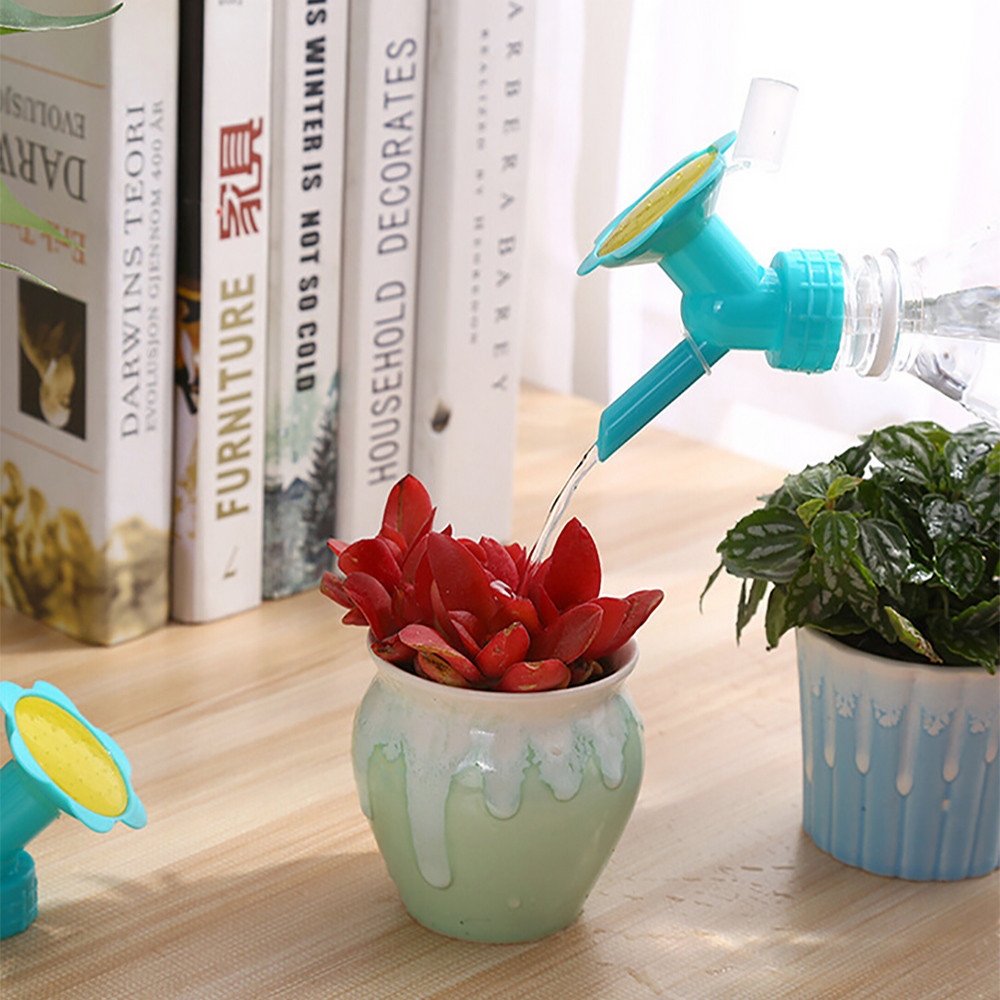 H01d37b100377453ca85041ae27e205bca 2In1 Plastic Sprinkler Nozzle For Flower Waterers Bottle Watering Cans Sprinkler Shower Head Gardening tools
