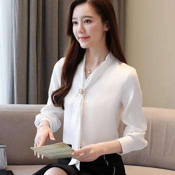 Korean Fashion Womens Tops and Blouses Spring Chiffon Women Shirts Office Lady Ladies Tops Plus Size Blusas Femininas Elegante korean fashion chiffon women blouses batwing sleeve white women shirts plus size xxl blusas femininas elegante ladies tops