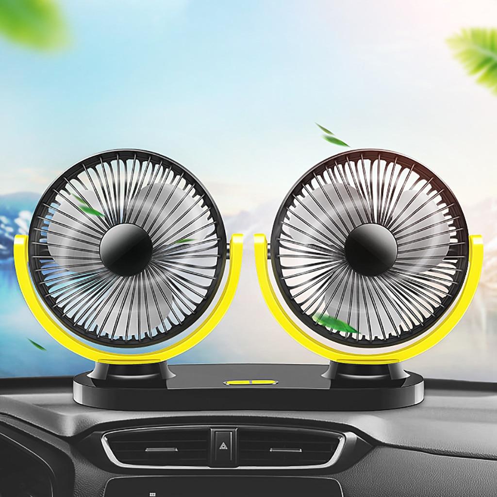 Auto fan Universal 12 & 24V Dual Kopf Auto Kühlung Oszillierende Dashboard Belüftung Air Fan auto kühler кондиционер для авто