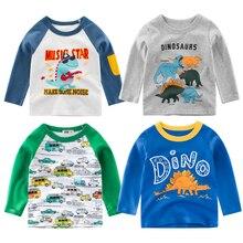 JXYSY Autumn Hot Sale Baby Boys Clothing Sets Cartoon Sweatshirt Dinosaur car  Cotton Long sleeve T-shirt Toddler Kids Clothes