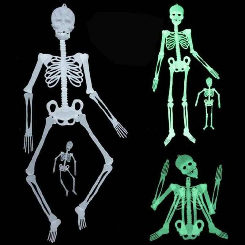 وهمية الهيكل العظمي هالوين خدعة الدعائم البلاستيك نابض بالحياة الجمجمة عظام الذراع تمثال هالوين حزب الديكور ل مسكون منزل المنزل
