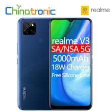 Realme – smartphone V3, téléphone Mobile 6 go, 64 go/128 go, 5G, 720 Octa Core, écran HD 6.4 pouces, batterie 5000mAh, Triple caméra 13mp, Android 10, Original