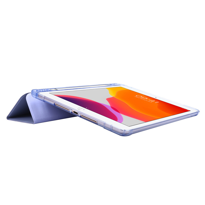 For iPad Case 7th Generation Flip Stand Protective Case with Pencil Holder Smart Cover For iPad