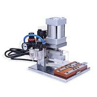 Máquina de crimpagem automática da imprensa de rebitagem da cabeça de idc da máquina de friso pneumática do cabo e linha do computador