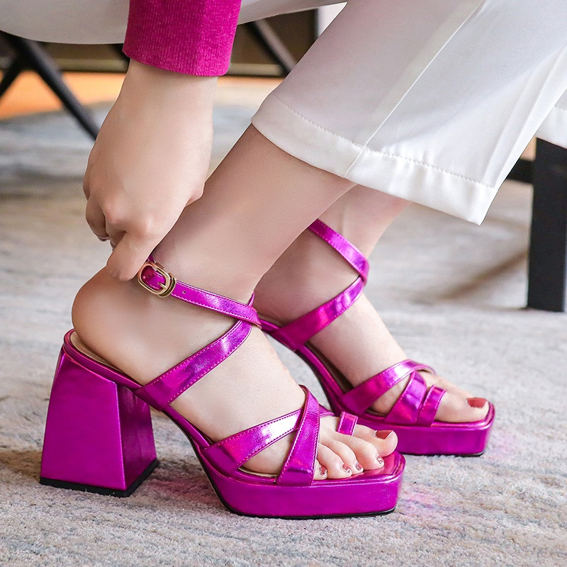 women shoes new brand Silk +genuine leather beautiful women sandals sexy square high heels black silver white shoes woman sandal