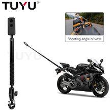 Монопод для селфи на мотоцикл и велосипед TUYU, невидимый кронштейн для крепления камеры GoPro Max 9 Insta360 One R X2