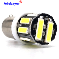 500pcs Best Price BA9S T11 H6W 10 LED 7020 SMD Car Interior Lights Reading Dome Lamp Map lighting Auto Bulbs DC 12V