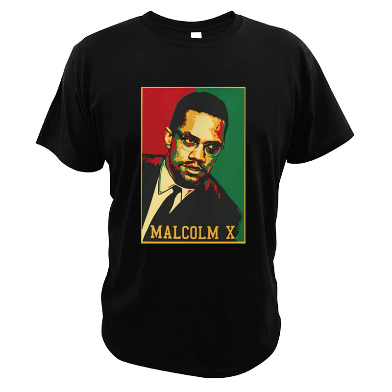 <font><b>Malcolm</b></font> <font><b>X</b></font> <font><b>T</b></font>-<font><b>Shirt</b></font> Black History Month Activist African Civil Rights EU Size Casual Novelty High Quality <font><b>T</b></font> <font><b>Shirt</b></font> image