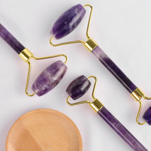 Natural amethyst Face Massage Roller Practical Jade Facial Anti Wrinkle Body Head Portable Nature