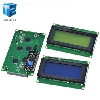 LCD2004 + I2C 2004 20 #215 4 2004A niebieski ekran HD44780 LCD w IIC I2C Adapter interfejsu szeregowego moduł dla Arduino tanie i dobre opinie GREATZT LCD Board 2004 Charakter 16*2