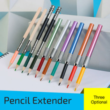 Pencil-Extender-Holder Color-Rod Write-Tool Painting-Art Adjustable Metal Sketch School