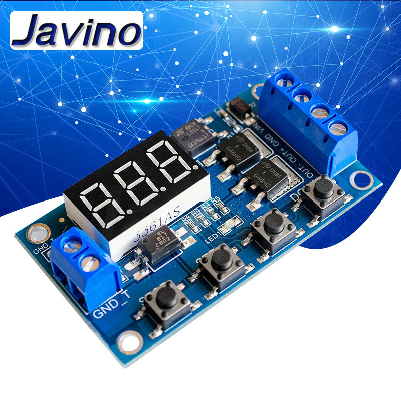 5PCS 5-30V Micro USB Power Trigger Delay relay Timer control switch module new