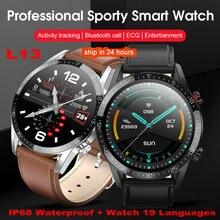 2020 L13 Smart Watch Men ECG PPG IP68 Waterproof Bluetooth C