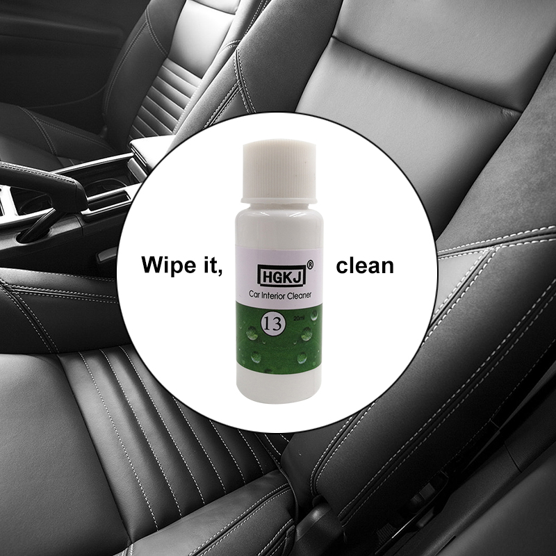 HGKJ-13 20ML Car Seat Interiors Cleaner Leather Seat Home Sofa Polish Wax Panel Dashboard Cleaner High Concentrated Foam Agent image