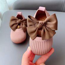 Primavera outono bebê primeiro walker sapatos crianças borboleta nó meninas sapatos de bebê infantil sapatos casuais