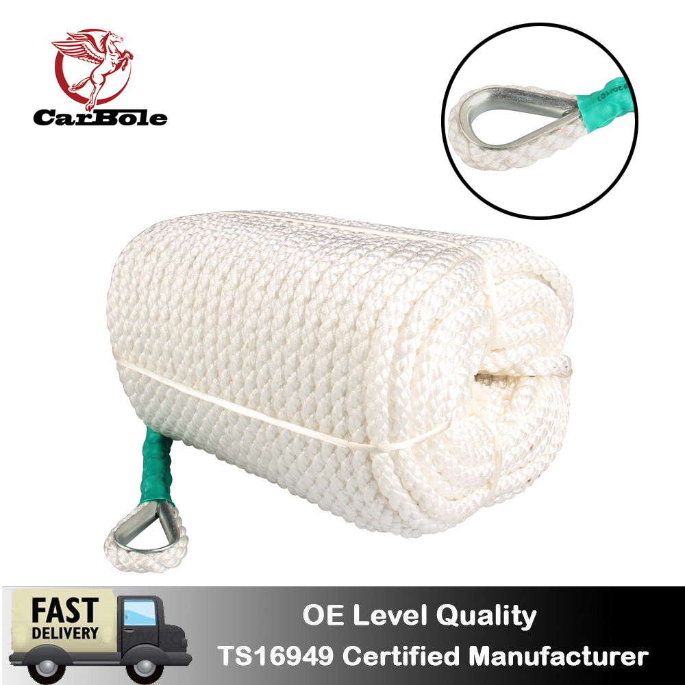 Nylon Rope White 3//4in X 200 Ft Thimble Knot Tying Tow Anchor Dock Boat