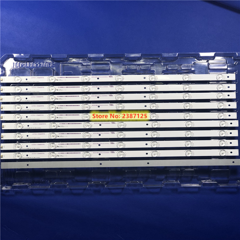 LED Backlight Strip 7 Lamps  For Hisense 55H8C LED Strip Set (10) 55 HD550DU B52 10X7 3030C V0