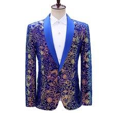 Suit Jackets Blazer Sequin Wedding-Singer Mens Dress Party Costume Performance Homme