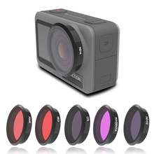 Für Osmo Action Kamera Filter UV CPL ND 8 16 32 64 Rot Rosa Magenta Filter Kit Für DJI Osmo action Sport Kamera Zubehör
