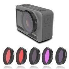 Osmo için Eylem Kamera Filtresi UV CPL ND 8 16 32 64 Kırmızı Pembe Kırmızı Filtreler Kiti DJI Osmo eylem Spor Kamera Aksesuarları