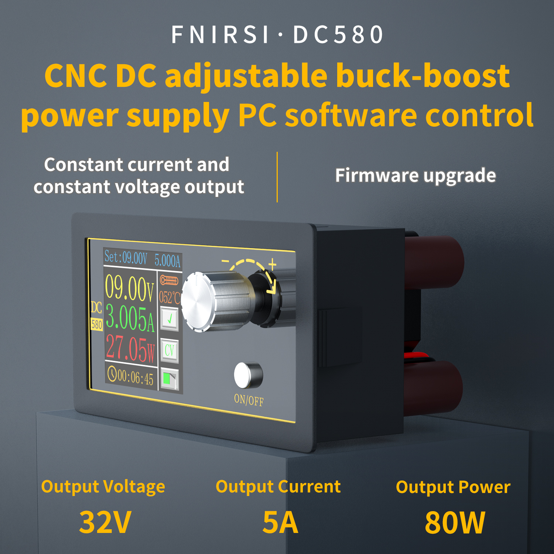 Fuente de alimentación de laboratorio regulada, CC, CC, Buck Boost, convertidor, CC, 1,8-32V, 5A, módulo de alimentación variable