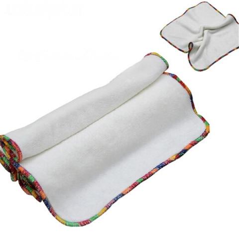 5 pcs set pano pequena toalha de fibra de bambu do bebe toalhetes reutilizaveis lavavel