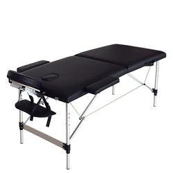 """84 """"Портативный складной Алюминий массажный стол спа кровати с чехлом для переноски Красота салон терапевтическая, массажная койка для"""
