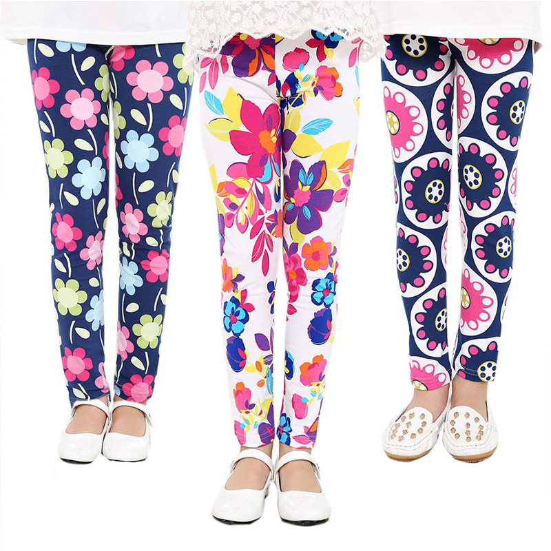 Baby Kids Skinny Slim Leggings Girl Floral Stretchy Pants Children Pants Leggings For Girl Clothes Casaul Wear 1 To 10 Years