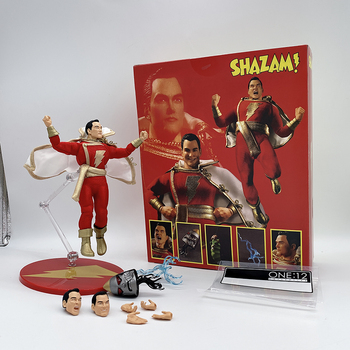 Nuevo Modelo de 15CM Mezco Shazam figura de acción plebeyo Mezco una de 12 capitán Marvel figura Superman juguetes muñeca de regalo de cumpleaños