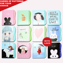 Kids Diary with Lock School Diary Children's Small Diary Notebook with a Lock