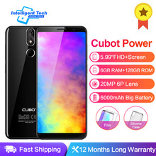 Cubot Power 6GB RAM 128GB ROM Android 8.1 Helio P23 Octa Core 5.99 Inch FHD + 6P lens Smartphone 20.0MP Celular 4G LTE 6000mAh(China)