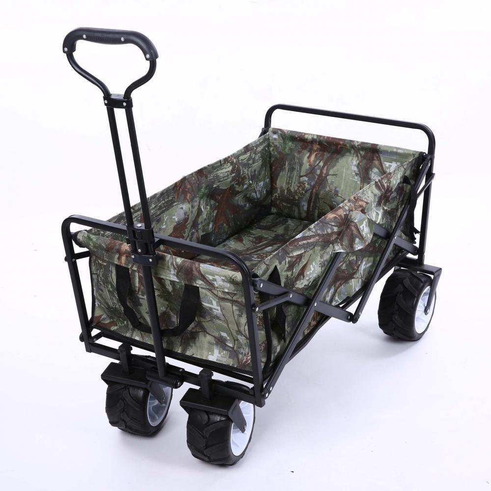 4 Wheel Heavy Duty Folding Bag Garden Trolley Cart Garden Cart Multifunctional Utility Outdoor Red Lawn Wagon Garden Supplies