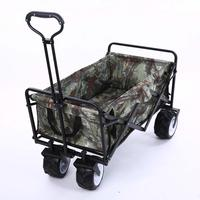 4 Wheel Heavy Duty Folding Bag Garden Trolley Cart Garden Cart Multifunctional Utility Outdoor Red Lawn Wagon Garden Supplies