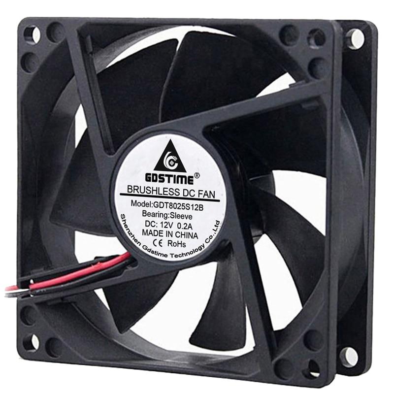 5pcs 24V 50mm 5cm Dual Ball Bearing 6000RPM Brushless Computer Cooling Fan
