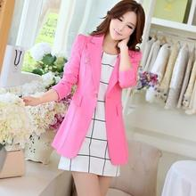 2020 New Fashion Brand Women Spring Autumn Suit Female Plus Size Slim Long Sleeve Blazer & Suits Candy Colors 6 Color HJ161(China)