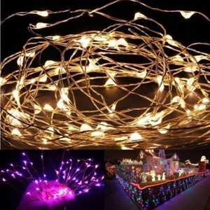Feimefeiyou 2m 20 Led Outdoor Light String Fairy Garland Battery Power Copper Wire Lights For Party Christmas Wedding #W3