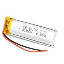 801350 3.7v 500mah recarregável li-polímero bateria para gps mp3 mp4 dvr gravação caneta bluetooth bicicleta traseira luz da cauda 081350