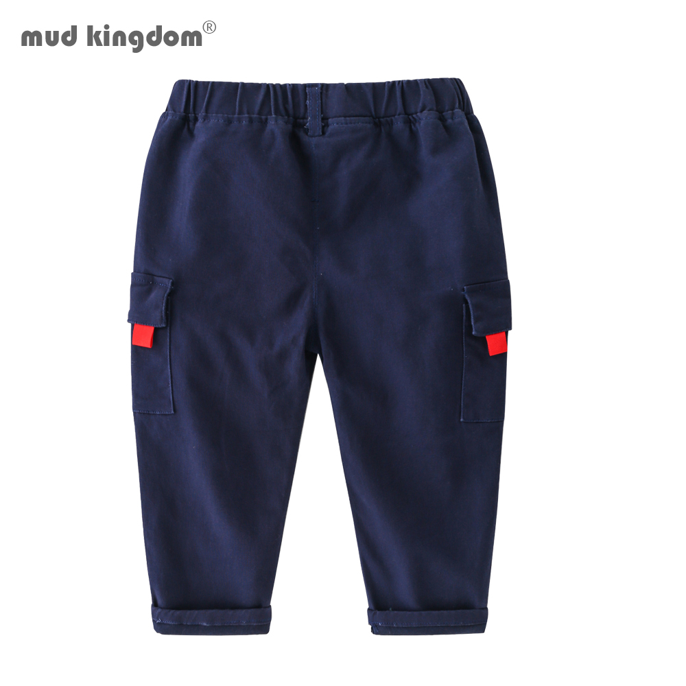Mudkingdom Boys Cargo Pants Chino Solid Causal Cotton Trousers for Kids 4