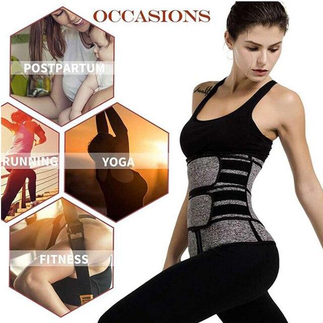 Women Slimming Waist Trainer Cincher Corset Trimmer Belt Workout Sweat Body Shaping Zipper Adjustable Weight Loss Sports 3
