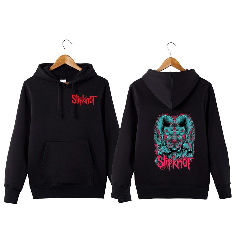 Slipknot Rock Band Hoodie Slipknot Sweatershirt Rock Band Hoodie Streetwear Hip Hop Hooded Sweatshirt