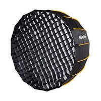 Nicefoto 120 см параболический софтбокс Профессиональный быстрый набор глубокая мягкая коробка с сеткой и креплением Bowen для студии светодиодны...