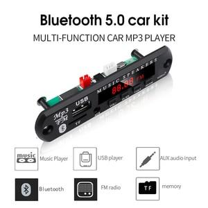 Image 3 - KEBIDU Bluetooth5.0 MP3 WMA ถอดรหัสบอร์ด 5V 12V โมดูลเสียง USB TF วิทยุเพลงรถยนต์ MP3 ผู้เล่นด้วยรีโมทคอนโทรล