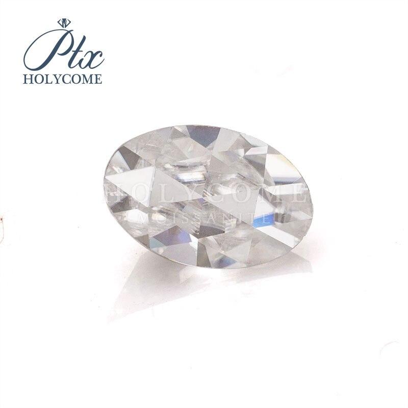 white color oval shape rose cut 6.5x4mm moissanite diamante gemstones price per carat кольца браслеты ьги с зеленным камнем