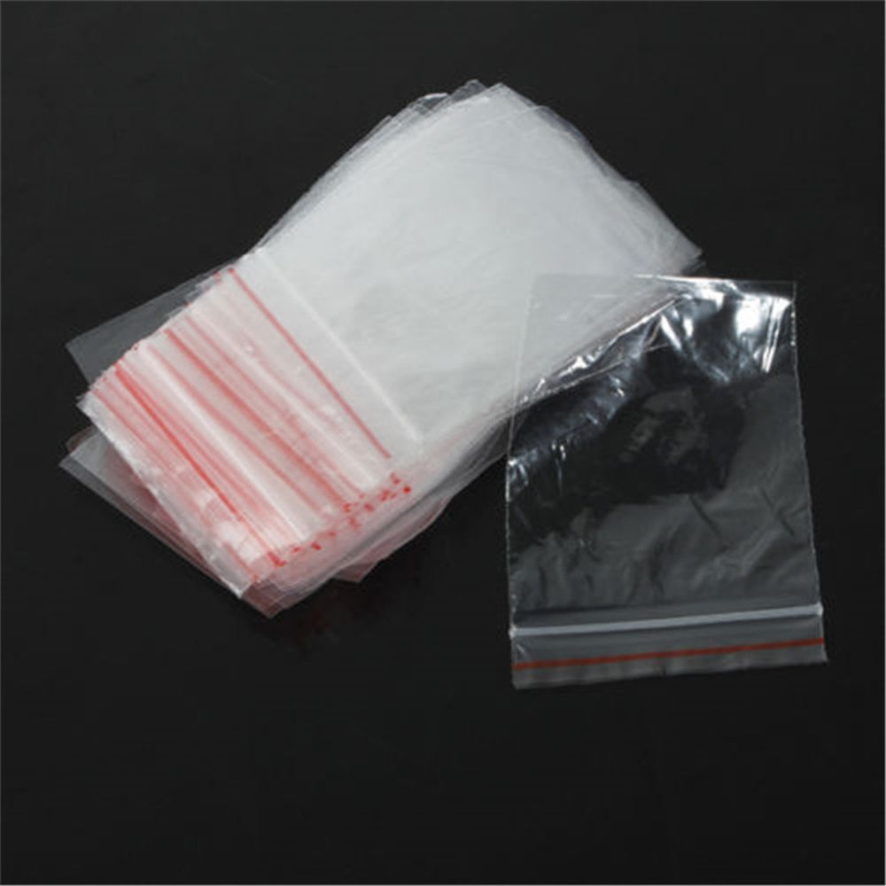 100pcs/pack Jewelry 5x7/6x4cm Ziplock Zipped Lock Reclosable Plastic Poly Clear Bags