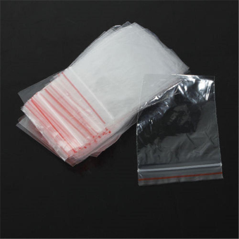100pcs/pack Jewelry 5x7/6x4cm Ziplock Zipped Lock Reclosable Plastic Poly Clear Bags