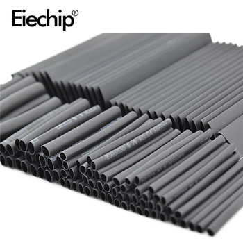 127pcs/lot Heat Shrink Tubing 7.28m 2:1 Black Tube Car Cable Sleeving Assortment Wrap Wire Kit termoretractil Polyolefin Tubing